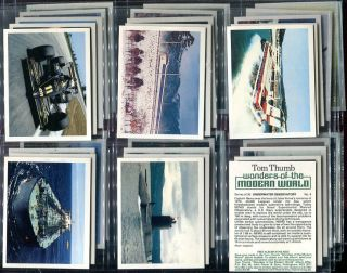 Tobacco Card Set Tom Thumb Wonders of The Modern World Inventions