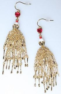 DISNEY COUTURE TOM BINNS ALICE TEA PARTY EARRINGS**1 LEFT/COLLECTIBLE