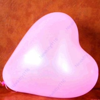 100pcs Heart Shape Balloons Occasions Wedding Birthday Party
