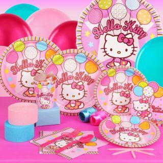 Hello Kitty Balloon Dreams Birthday Standard Party Pack Supplies