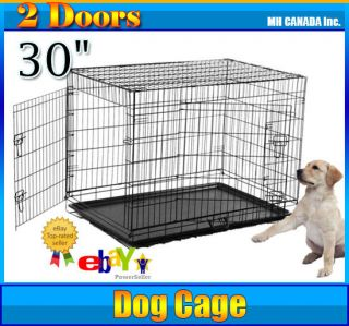Folding Dog Cage Crate Wire Kennel Cat Bird Cage Pet Supply New
