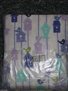 Circo Blue Purple Green Bird Houses Birds Twin Sheet Set NIP