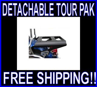 MOTHERWELL 2 UP DETACHABLE BLACK TOUR PAK RACK 2009 TO PRESENT HARLEY