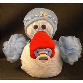 Blue Duck Diaper Cake Topper Baby Shower Decorations