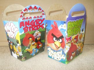 New Angry Birds 10 PC Party Favors Treat Boxes T Also Use as Loot