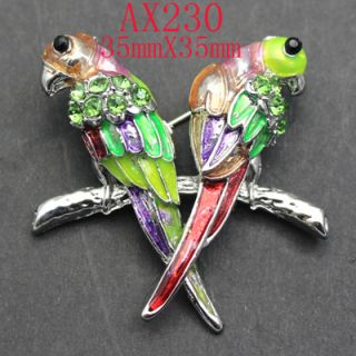 Fashion Rhinestone Crystal Enamel Bird Pin Brooch  AX230