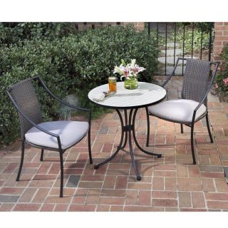 Piece Tile Top Bistro Table and Chairs Set