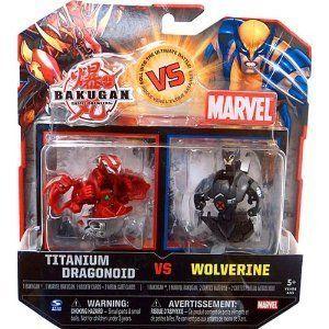 Marvel Bakugan Battle Brawlers TITANIUM DRAGONOID vs WOLVERINE Black