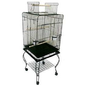 Features of Brand New Parrot Bird Cage Cages Play W/Stand L24xW16xH53