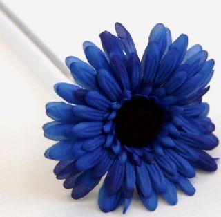 Artificial Silk Flower Rose Blue Gerbera Flowers Bulk