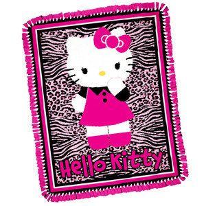 HELLO KITTY FLEECE TIE BLANKET KIT NEW EASY FOLLOW DIRECTIONS