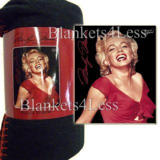 Marilyn Monroe Fleece Throw Blanket 50 x 60 Red Dress Brand New
