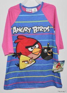 NEW GIRLS ANGRY BIRDS NIGHTGOWN PAJAMAS NIGHTIE PYJAMAS PJS