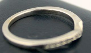 18K White Gold Pave Diamond Curved Wedding Band Blue Nile