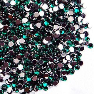 500pcs 2mm round Green rhinestone nail art glitter  #152