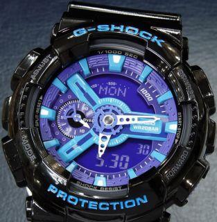 CASIO G SHOCK GA 110HC 1AJF Black & Blue LED Combinations HYPER COLORS