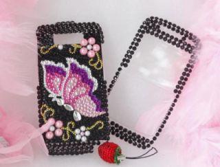 Bling Diamond Pearl Butterfly Hard Case for Nokia E71