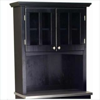 Home Styles Furniture 2 Dr Solid Wood Panel Buffet Hutch Black