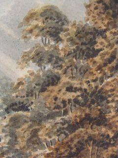 Antique 18c Sir James Stuart Landscape w C Painting w Cows