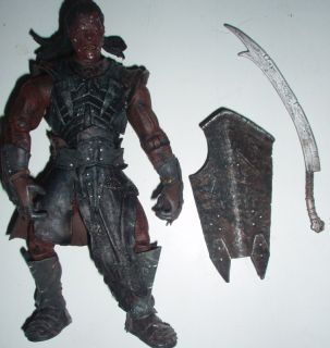10 Orc Army Lot Loose Action Figure ROTK LOTR Toy Biz Uruk Hai