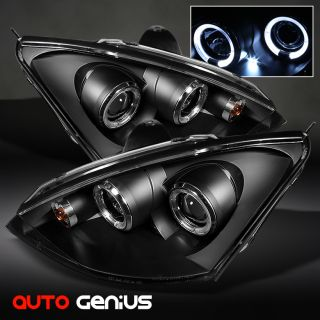 00 04 Ford Focus Black Halo Projector Headlights Front Lamps Instant