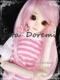 DAL Pullip BJD SD LUTS Blyth Doll Long Pink Girl Hair Wig