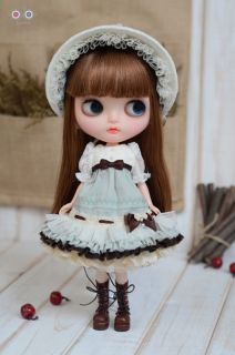 Dolly Lolita Dress Set for Kenner Blythe Doll Doll Outfit Baby Blue