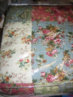 GREENLAND HOME BLOOMING PRAIRIE FULL QUEEN QUILT SET QUILT AND TWO
