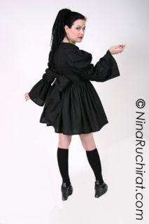 Black Gothic Lolita Dress with Peter Pan Collar Cosplay Costume Custom