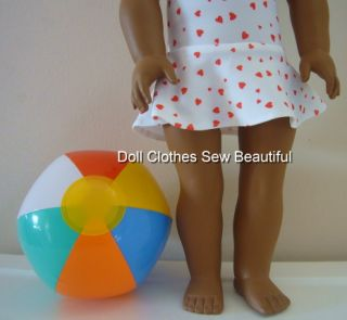 Doll Clothes Fits American Girl Blow Up Beach Ball Toy