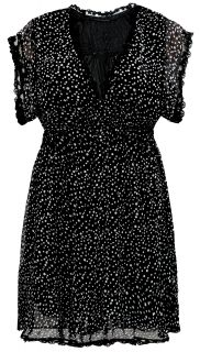 Ladies Plus Size Black & White Polka Dot Lace Trim Detail Dress #595