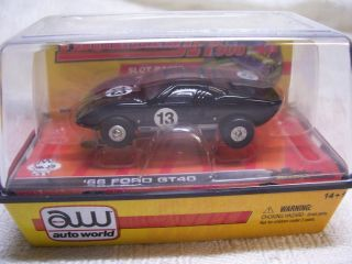 Auto World HO Scale 1966 Ford Black GT40 Slot Car MIB
