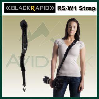 New 2012 BlackRapid RS W1 Women Sling Camera R Strap RWS 1FB Black
