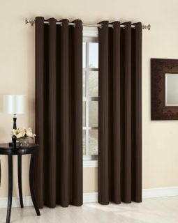 Stripe Insulating Blackout Grommet Top Curtain Panel 3 Colors
