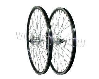 MTB Rigida x Star CNC Black Rims Front and Rear Disc Wheels