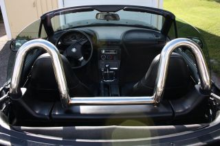 bmw z3 stainless polished roll bar style bar fits bmw z3 roadsters