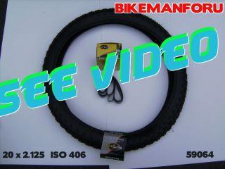 Bicycle 20 x 2 125 BMX Bike 1 Tire Tube Rimstrip Kenda