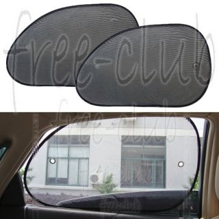 Black See Through Mesh Car Front Row Side Window Sun Shade Shield