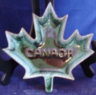 Blue Mountain Pottery Canada Maple Leaf Dish Signed BMP