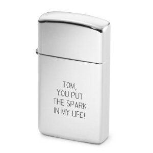 Personalized Zippo Slim High Polish Chrome Lighter Free Engraving