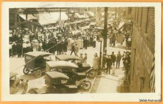 blanchester oh real photo downtown 1928 2280
