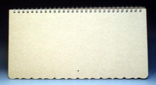 MBI Blank Calendar Pages Kit 15x7 w Scalloped Edges
