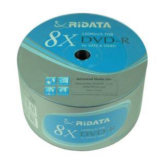 Blue Logo Top DVD R 8x Blank Media Free Expedite Shipping