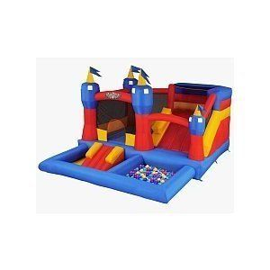 New Blast Zone Misty Kingdom Inflatable Bouncer Water Park with Slide