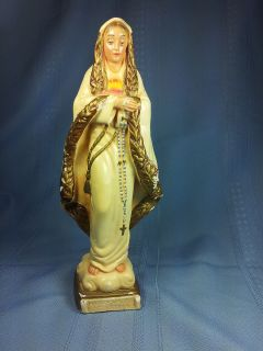 Vintage Fatima Blessed Mother Mary Statue
