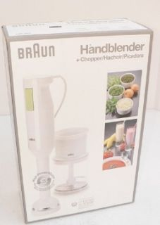 BRAUN Immersion Hand Stick Blender Mixer w/ Chopper Attach MR 360