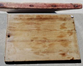 Antique Old Red Dough Board Stove Cutting Farmhouse Noodle Sink