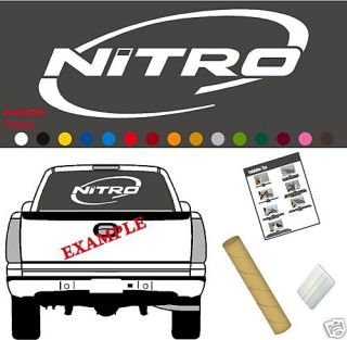 Nitro Boats Logo Decal Vinyl Sticker Graphic