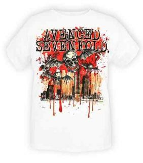 Avenged Sevenfold A7X City Blood Winged Skull Shirt L