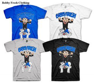 Bobby Fresh E Retro 3 True Blue Smurf Shirt